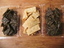 Sesame sticky candy bar snack Royalty Free Stock Photo