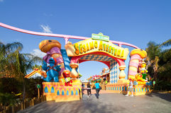 Sesame Street area at Port Aventura theme park Stock Photography