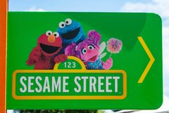 Sesame Street sign at Seaworld in International Drive area . royalty free stock photos