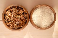 Sesame and walnut. Stock Photography