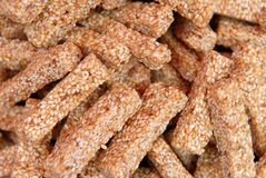 Sesami Biscuits. Sesame biscuit in the market royalty free stock photos