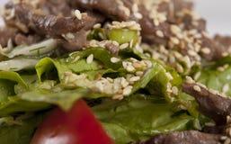 Sesamnötkött med grönsaker Royaltyfria Bilder