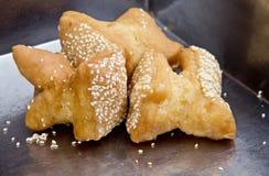 Sesamo fritto del dolce Immagine Stock