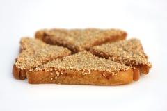 Sesamräkarostat bröd Arkivbilder