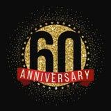 Sesenta años del aniversario de logotipo de la celebración 60.o logotipo del aniversario Foto de archivo libre de regalías