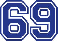 Sesenta y nueve universidades número 69 Stock de ilustración