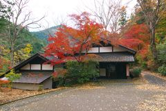 Seseraginosato Museum in Tokyo. Tokyo, Japan-November 20, 2017: Seseraginosato Museum was built with scrap wood that had been used at old houses built around 150 Royalty Free Stock Photography