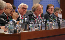 Sesión cerrada del 23ro consejo de la reunión ministerial del OSCE Imagen de archivo