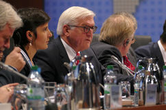 Sesión cerrada del 23ro consejo de la reunión ministerial del OSCE Foto de archivo libre de regalías