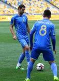 Sesión de formación del equipo de fútbol nacional de Ucrania en Kyiv Imágenes de archivo libres de regalías