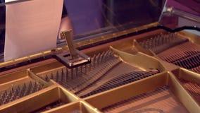 Sesión de la grabación del piano de cola almacen de metraje de vídeo