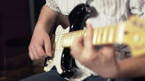 Sesión de la guitarra eléctrica metrajes