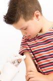 Sesión de la vacunación Fotos de archivo libres de regalías