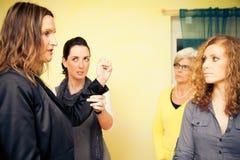 Sesión de terapia sistémica Foto de archivo libre de regalías