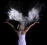 Sesión fotográfica del polvo Fotografía de archivo