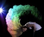 Sesión fotográfica del polvo del color Fotos de archivo libres de regalías