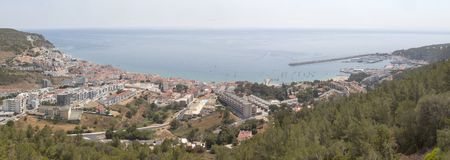 Sesimbra panorama in hi resolution. Fantastic view from the castle