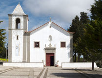 Sesimbra in Portugal. Sesimbra Church near the Castelo (Portugal Royalty Free Stock Image