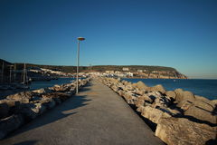Sesimbra, Portugal. Sunset in the sesimbra pier Stock Photo