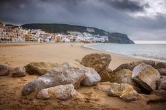 Sesimbra strand Fotografering för Bildbyråer