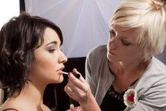 Sesión del maquillaje Imagen de archivo libre de regalías