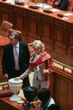 Sesión parlamentaria rumana Fotografía de archivo