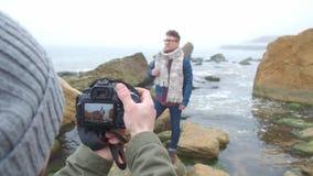 Sesja zdjęciowa. twfriends na tle natura zbiory wideo