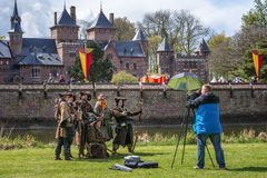 Sesja zdjęciowa. podczas elf fantazi jarmarku Obraz Royalty Free