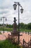 Seslavin将军纪念品在市勒热夫,特维尔地区,俄罗斯 库存照片