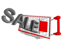 Sesonal sale concept isolated Stock Photo
