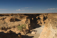 Sesriem canyon at Sossusvlei Royalty Free Stock Photo