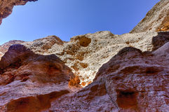 The Sesriem Canyon - Sossusvlei, Namibia Stock Images