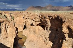 Sesriem canyon before storm Royalty Free Stock Photography
