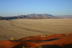 Sesriem land from Elim dune Stock Images