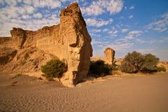 sesriem riverbed каньона сухое Стоковые Изображения
