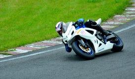Sessão da equitação da motocicleta no centro da raça de WallraV Fotos de Stock Royalty Free