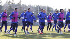 Sessão de formação da equipa de futebol do nacional de Ucrânia