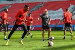 Sessão de formação da equipa nacional do ` s dos homens do futebol de Canadá Imagem de Stock Royalty Free