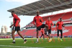 Sessão de formação da equipa nacional do ` s dos homens do futebol de Canadá Fotografia de Stock Royalty Free