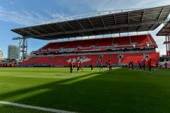 Sessão de formação da equipa nacional do ` s dos homens do futebol de Canadá Fotografia de Stock