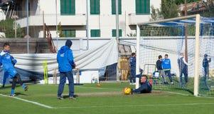 Sessão de formação do futebol de Empoli da equipe Fotos de Stock Royalty Free