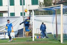 Sessão de formação do futebol de Empoli da equipe Imagens de Stock