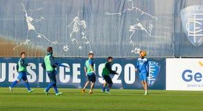 Sessão de formação do futebol de Empoli da equipe Fotografia de Stock