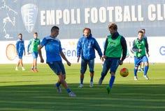 Sessão de formação do futebol de Empoli da equipe Foto de Stock Royalty Free