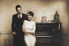 Sessão de foto do casamento no estúdio Fotos de Stock