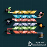 Sessão de reflexão do negócio do trabalho da equipe do vetor Imagem de Stock