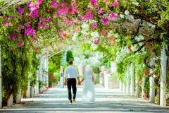 Sessão fotográfica do casamento Fotografia de Stock