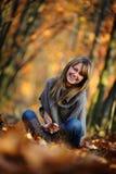 Sessão fotográfica do outono Imagens de Stock