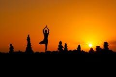 Sessão oriental da ioga em Tenerife Foto de Stock