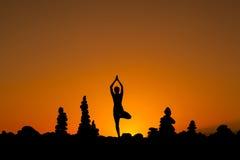 Sessão oriental da ioga em Tenerife Fotos de Stock